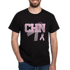 CHN initials, Pink Ribbon, T-Shirt