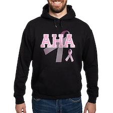 AHA initials, Pink Ribbon, Hoodie