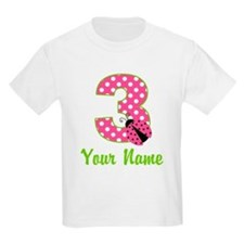 3rd Birthday Ladybug Pink T-Shirt