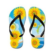 Sunflower Sky Flip Flops