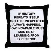 History Repeats Itself Throw Pillow
