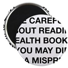 "Careful Reading Health Books 2.25"" Magnet (10 pack"