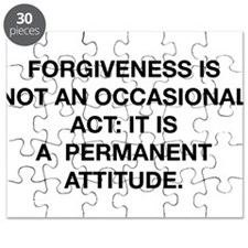 Forgiveness Is Not An Occasional Act Puzzle