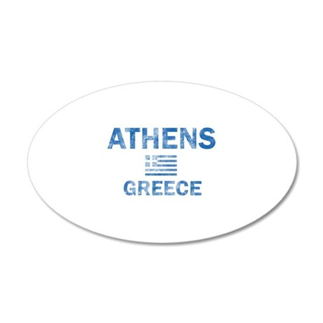 Athens Greece Designs 20x12 Oval Wall Decal