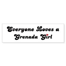 Grenada girl Bumper Bumper Sticker