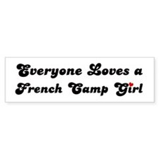 French Camp girl Bumper Bumper Sticker