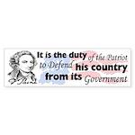 """""""Duty Of The Patriot"""" Sticker (Bumper)"""
