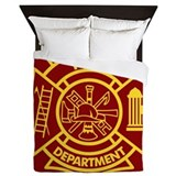 Firefighter Maltese Cross Queen Duvet