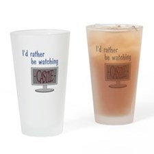 Rather Be Watching Castle Drinking Glass