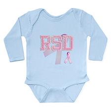 RSD initials, Pink Ribbon, Long Sleeve Infant Body