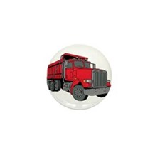 Big Red Dump Truck Mini Button (10 pack)