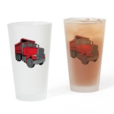 Big Red Dump Truck Drinking Glass