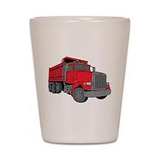 Big Red Dump Truck Shot Glass