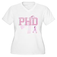 PHD initials, Pink Ribbon, T-Shirt