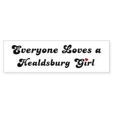 Healdsburg girl Bumper Bumper Sticker