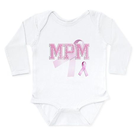 MPM initials, Pink Ribbon, Long Sleeve Infant Body