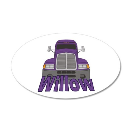 Trucker Willow 20x12 Oval Wall Decal