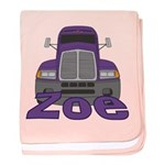 Trucker Zoe baby blanket