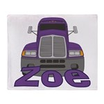 Trucker Zoe Throw Blanket