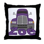 Trucker Zoe Throw Pillow