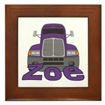 Trucker Zoe Framed Tile