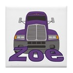 Trucker Zoe Tile Coaster