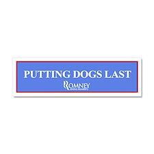 "Romney ""Putting Dogs Last"" Bumper Magnet"