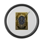 Fremasonry Share It Large Wall Clock