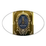Fremasonry Share It Sticker (Oval)