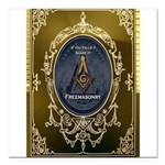 Fremasonry Share It Square Car Magnet 3