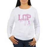LCP initials, Pink Ribbon, T-Shirt