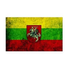 Lithuania Flag Rectangle Car Magnet