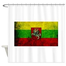 Lithuania Flag Shower Curtain
