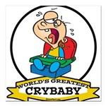 WORLDS GREATEST CRYBABY CARTOON.png Square Car Mag