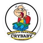 WORLDS GREATEST CRYBABY CARTOON.png Round Car Magn