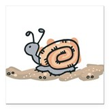 "snail in the sand.png Square Car Magnet 3"" x 3"""