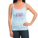 ISF initials, Pink Ribbon, Ladies Top