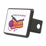 rather be knitting.png Rectangular Hitch Cover