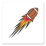 football on fire copy.jpg Square Car Magnet 3