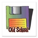 old school floppy disk copy.jpg Square Car Magnet