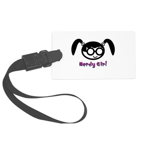 nerdy girl.psd Large Luggage Tag