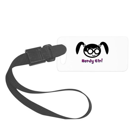 nerdy girl.psd Small Luggage Tag