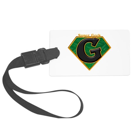super geek.psd Large Luggage Tag