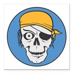 pirate skull colored copy.jpg Square Car Magnet 3