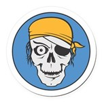pirate skull colored copy.jpg Round Car Magnet