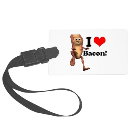 bacon copy.jpg Large Luggage Tag