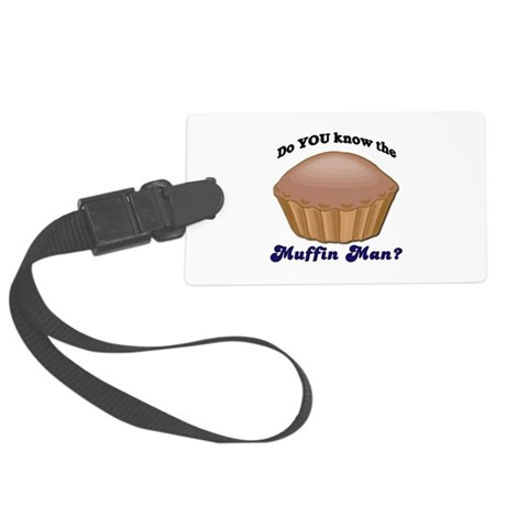 muffinman.psd Large Luggage Tag