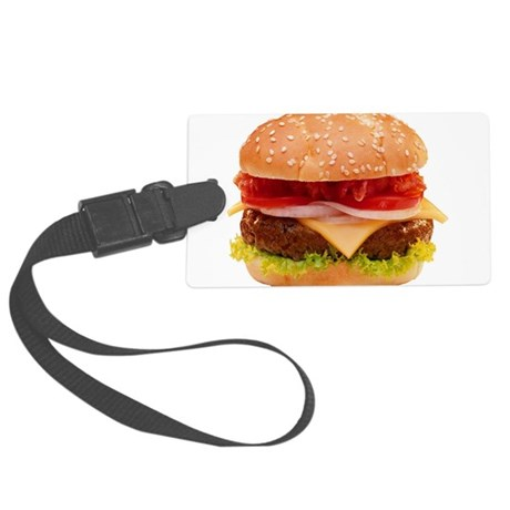 Cheeseburger Large Luggage Tag