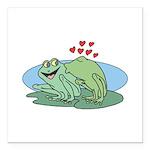 frogs in love copy.jpg Square Car Magnet 3
