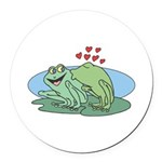 frogs in love copy.jpg Round Car Magnet